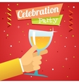 Toast Pledge Celebration Success Prosperity Symbol vector image vector image