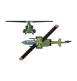 attack helicopter vector image