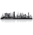 Glasgow city skyline silhouette vector image