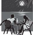 night romance vector image