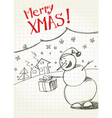 snowmans greetings vector image