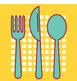 Knife Fork and Tablespoon vector image