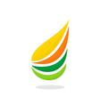 swirl abstract ecology logo vector image
