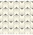 Seamless pattern graphic ornament sea shells vector image