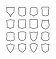Big set of blank classic shields vector image