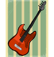 vintage background with electric guitar vector image