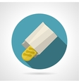 Flat color icon for baguette vector image