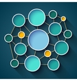 Infographics colorful circles and lines network vector image