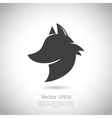 Stylized fox head icon vector image
