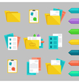 flat icons set with concepts of recruitment and vector image