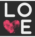Typographic poster with LOVE inscription vector image