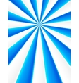 Blue and white abstract rays circle vector image