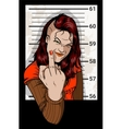 Criminal Mug Shot vector image
