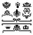 gothic design elements vector image