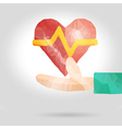 Health insurance or love concept vector image