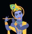 lord vishnu krishna vector image