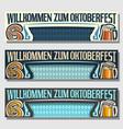 oktoberfest banners vector image