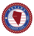 Label sticker cards of State Nevada USA vector image