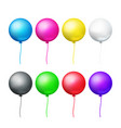 colored balloons set vector image vector image