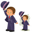 clip art with young boy in vector image