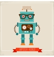 Hipster robot toy icon vector image