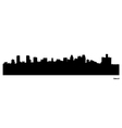 Detroit skyline vector image