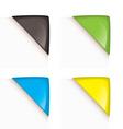paper corner icons vector image