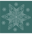 Vintage Christmas background with isolated vector image