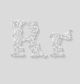 Decorated letter r vector image vector image