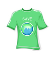 save earth t-shirt vector image vector image