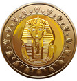 Egyptian coin featuring pharaoh vector image