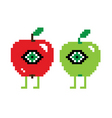 two funny apples vector image vector image