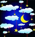 night backgorund vector image