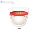 Malabi or Israeli Rose Scented Milk Pudding vector image