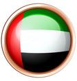Arab emirates flag on round badge vector image