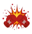 boxing gloves equipment icon vector image