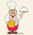 cartoon chef flat vector image