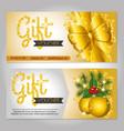 christmas gift voucher gift card vector image
