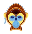 Head of monkey decorative geometric stylization vector image