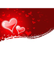 Heart background with space for text vector image