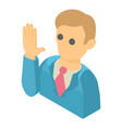 man icon isometric 3d style vector image