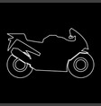 Motorcycle white color path icon vector image