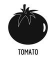 tomato icon simple style vector image