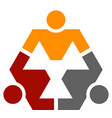 human community hexagon symbol vector image