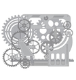 Pattern gear vector image vector image