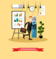 businessman concept in flat vector image
