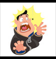 digital funny cartoon man vector image