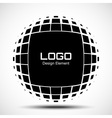 Abstract Halftone Logo Design Element vector image