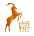Goat New Year 2015 Sign vector image vector image