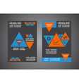 341triangle cover template design vector image